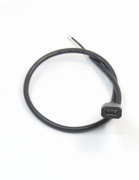 MicroUSB разъём встраиваемый с кабелем DIY